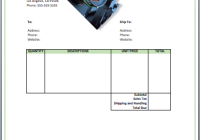 photography invoice template - Ms Word Invoice Template