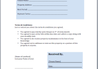 Rent Invoice Template  Rent Invoice Form