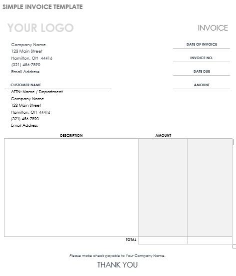 Computer Purchase Invoice Template