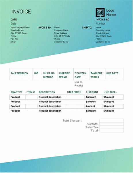 Notary Invoice Template